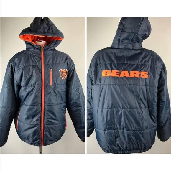 Chicago Bears Coat 2-in-1 NFL Winter Jacket Hood. M 5a80caad84b5ce5c2e9c2f84 ae1150922